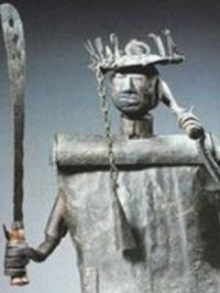 La statue Fon du Dieu Gou