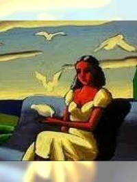 La jeune fille et les nuages